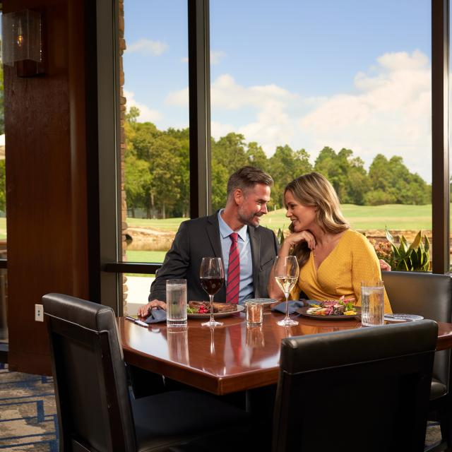Couple Dining in The Woodlands