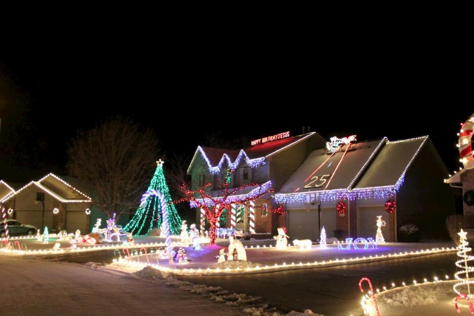Candy Cane Lane Christmas Lights