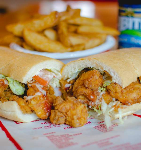 Olde Tyme Grocery Shrimp Po-Boy