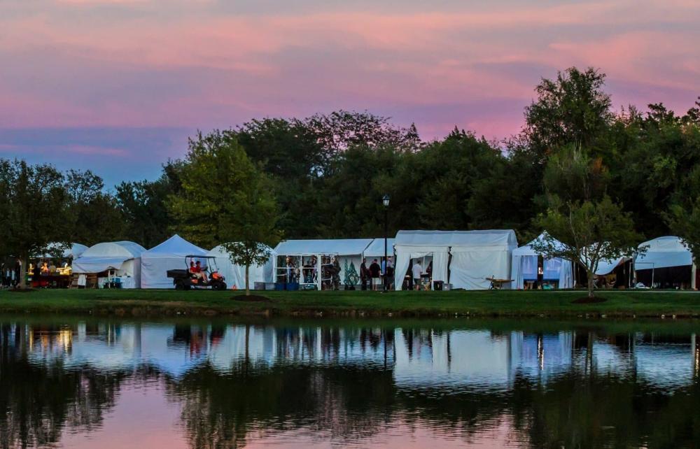 Autumn & Art Booths Along Bradley Fair Parkway