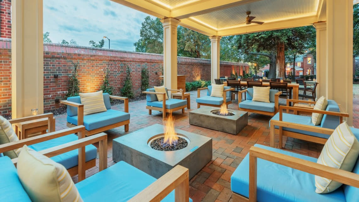 Outdoor Patio w/ Firepits at The Carolina Inn