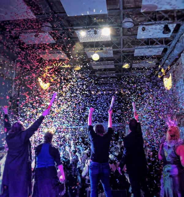 confetti and a concert at the haw river ballroom