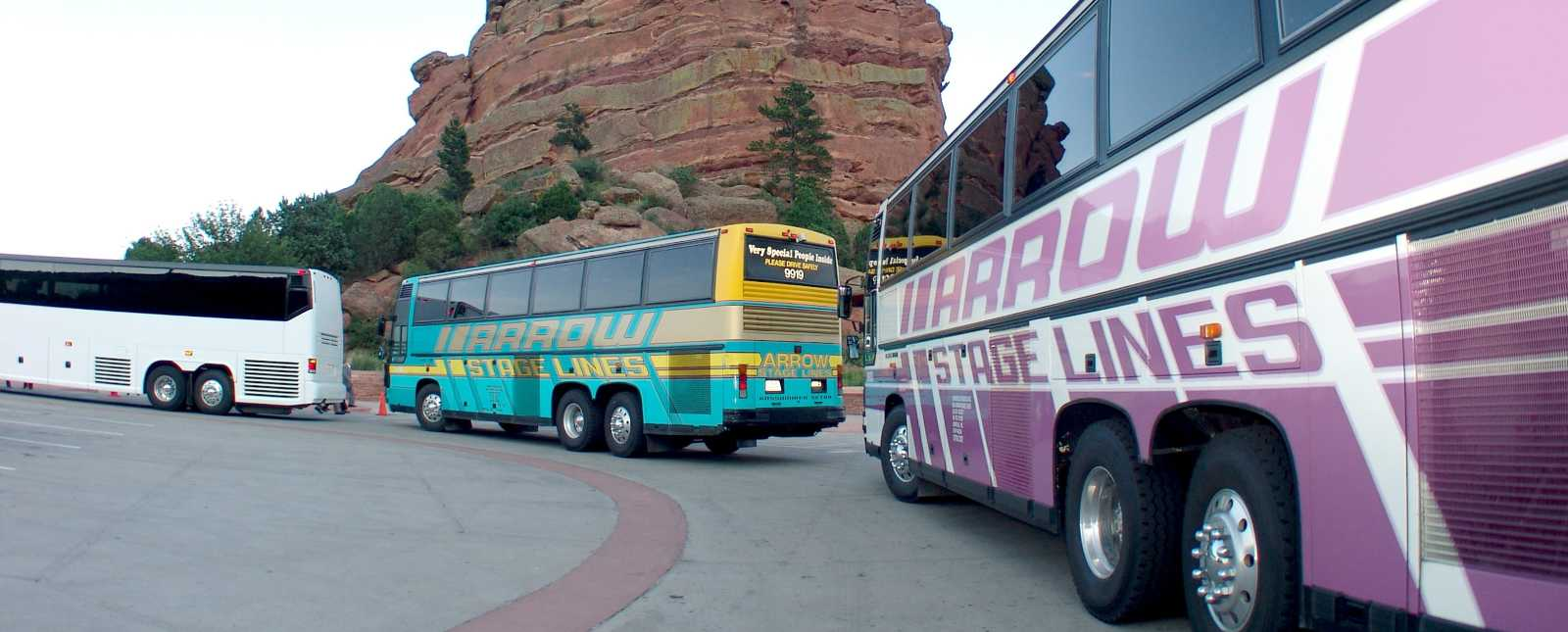 Motorcoach Service to Red Rocks