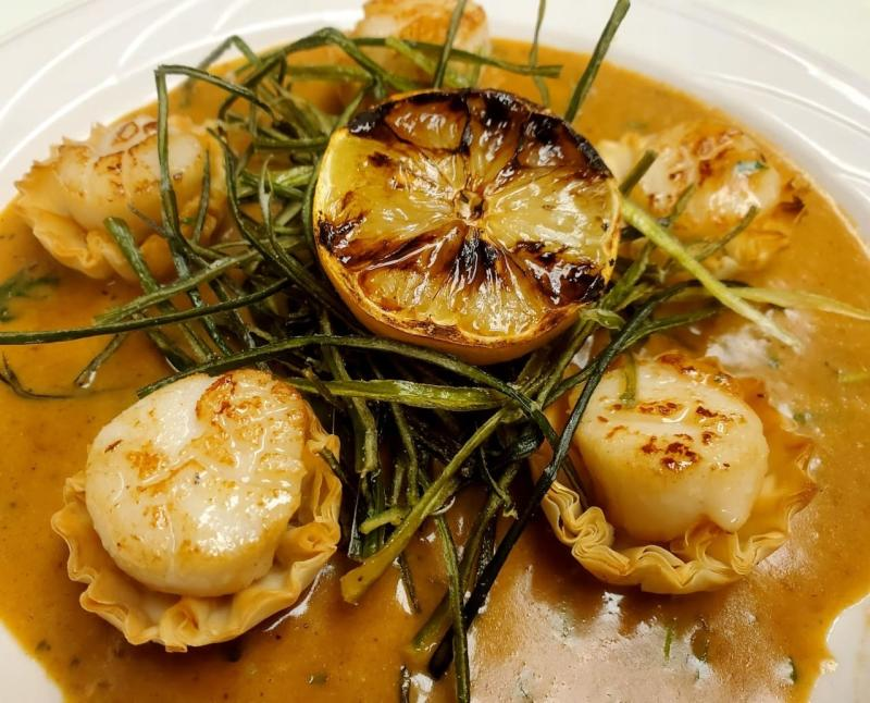 Scalloped Bouchee from Cafe Bel Ami