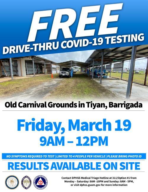 FREE Covid Testing 3.19