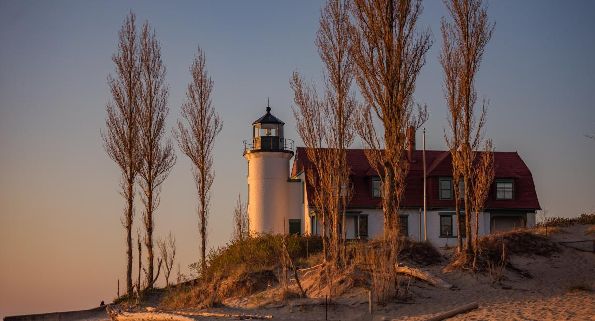 Point Betsie Lighthouse in Benzie County