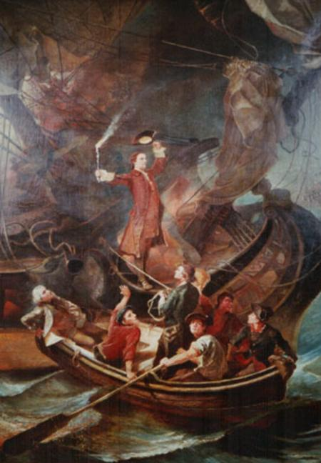 The Burning of the Peggy Stewart.