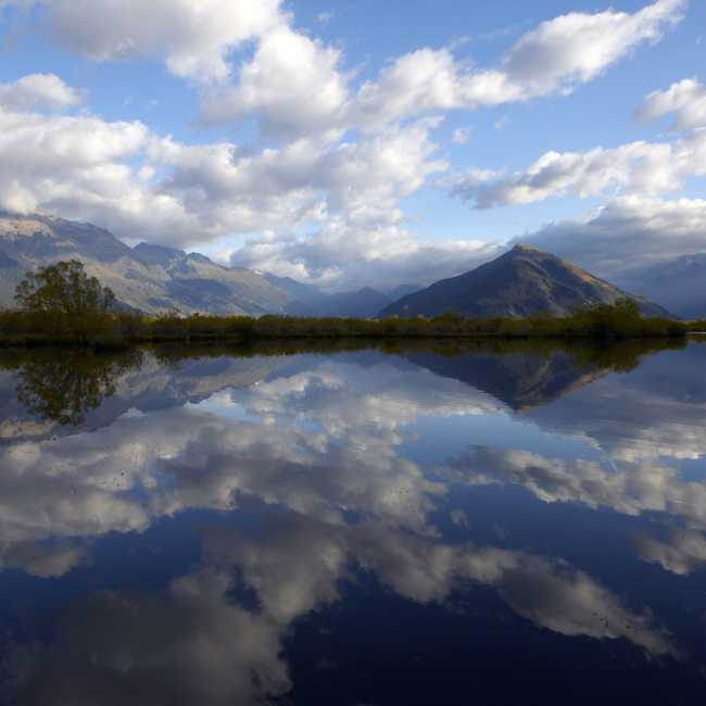 Mirror Lake and Mt Alfred in Glenorchy Queenstown