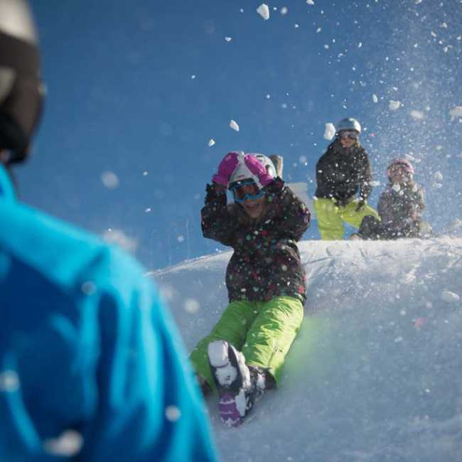 Family fun at the Ski field Queenstown