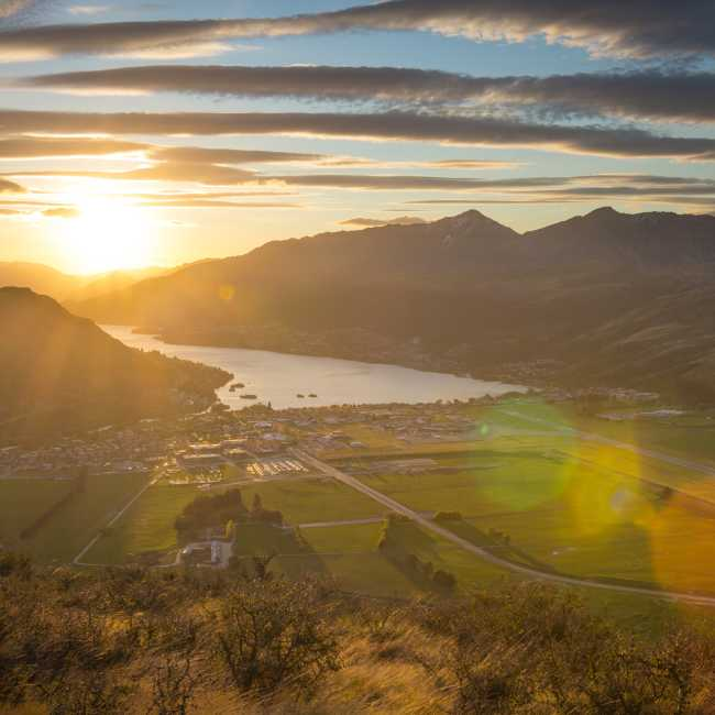 Sunset over the Frankton Arm Queenstown