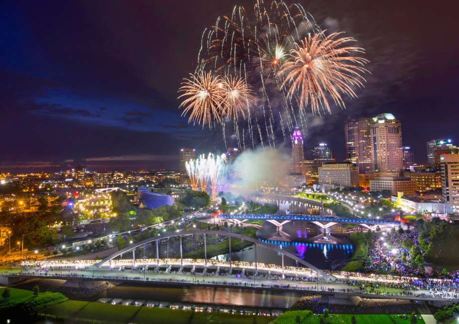 Red, White and Boom in downtown Columbus takes place annually on July 3.