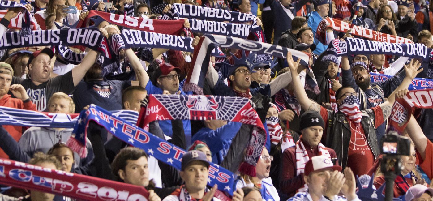Columbus, Ohio Sports Fans at Stadium