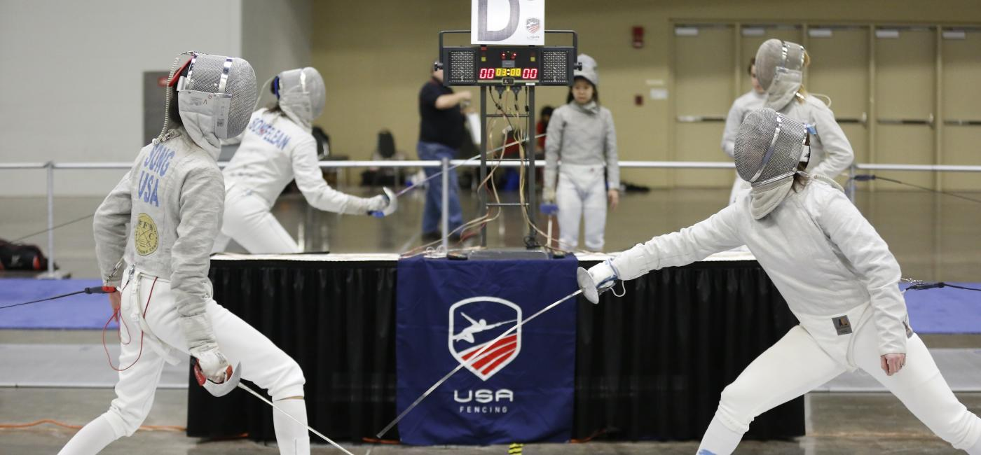 Fencing competition at USA Fencing 2017 January North American Cup