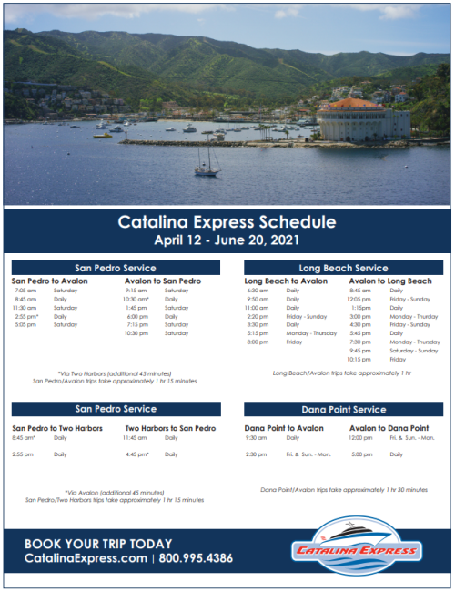 Catalina Express schedule