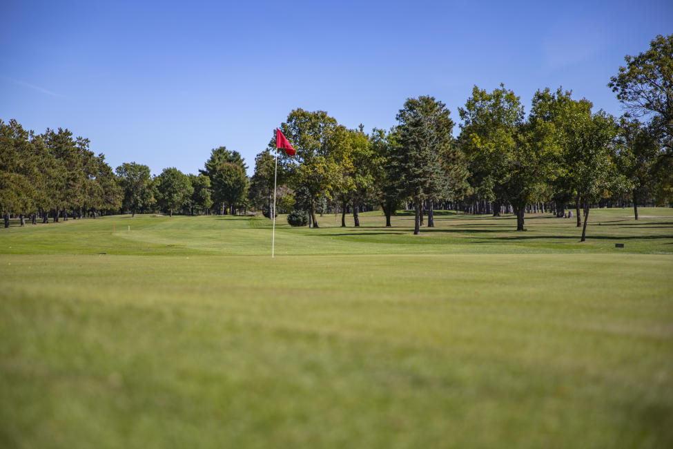 The green at Osseo Golf Club