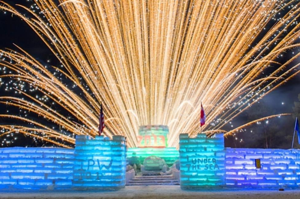 Saranac Lake Winter Carnival Ice Castle