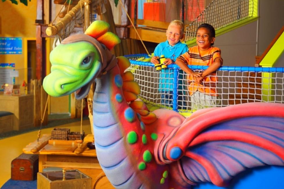 Kids playing at the Strong National Museum of Play
