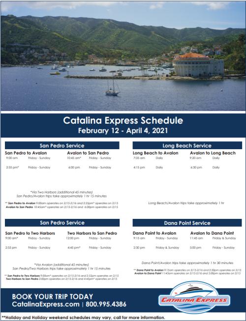 Cat Express Schedule