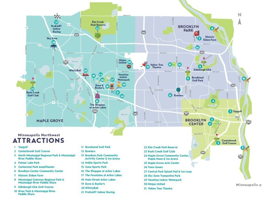 MNW Attractions Map