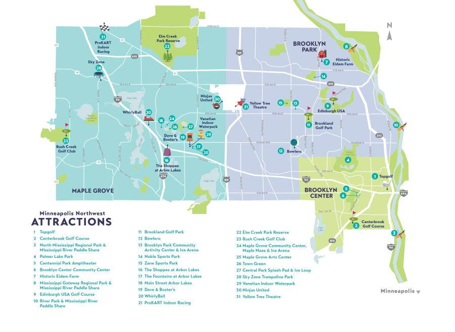 Insider's Guide Attractions Map