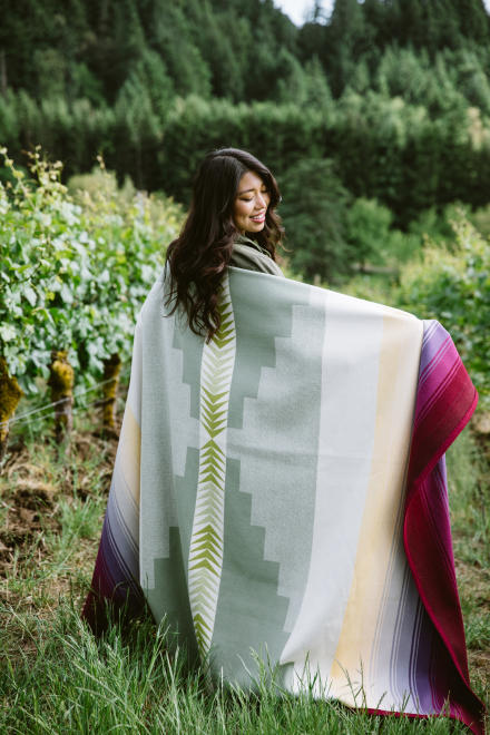 Custom Wine Country Blanket made by Pendleton