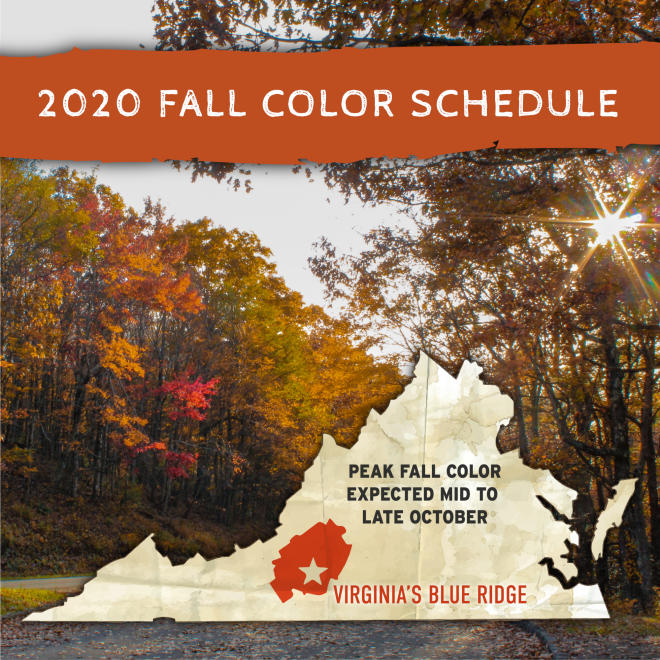 2020 Fall Foliage Color Schedule - Roanoke, Virginia - Blue Ridge Mountains