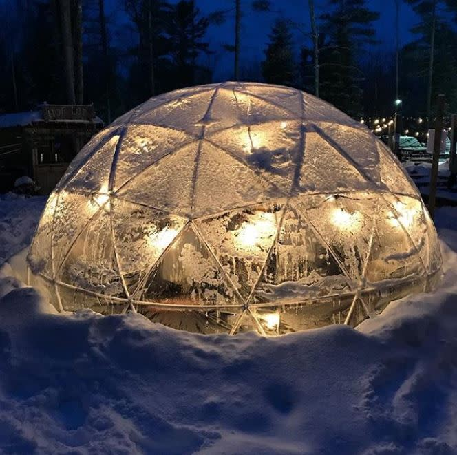 Igloo at Hop Lot in Suttons Bay