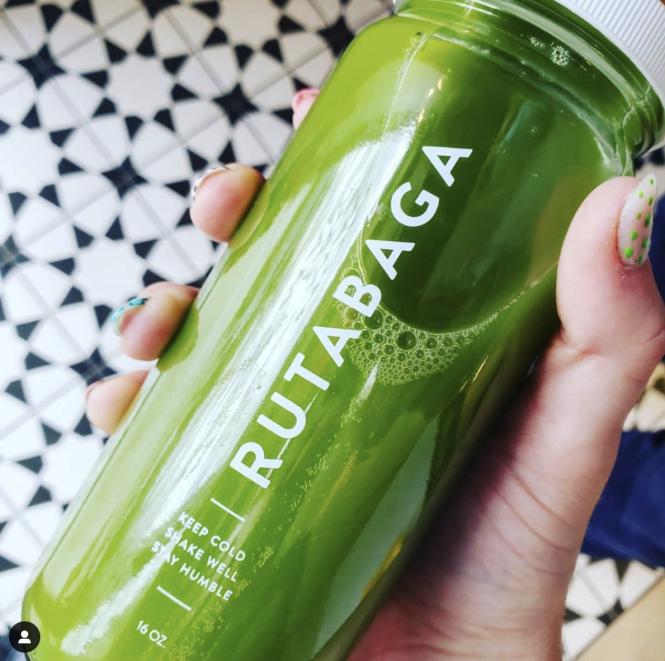 Green juice from Rutabaga Juicery.
