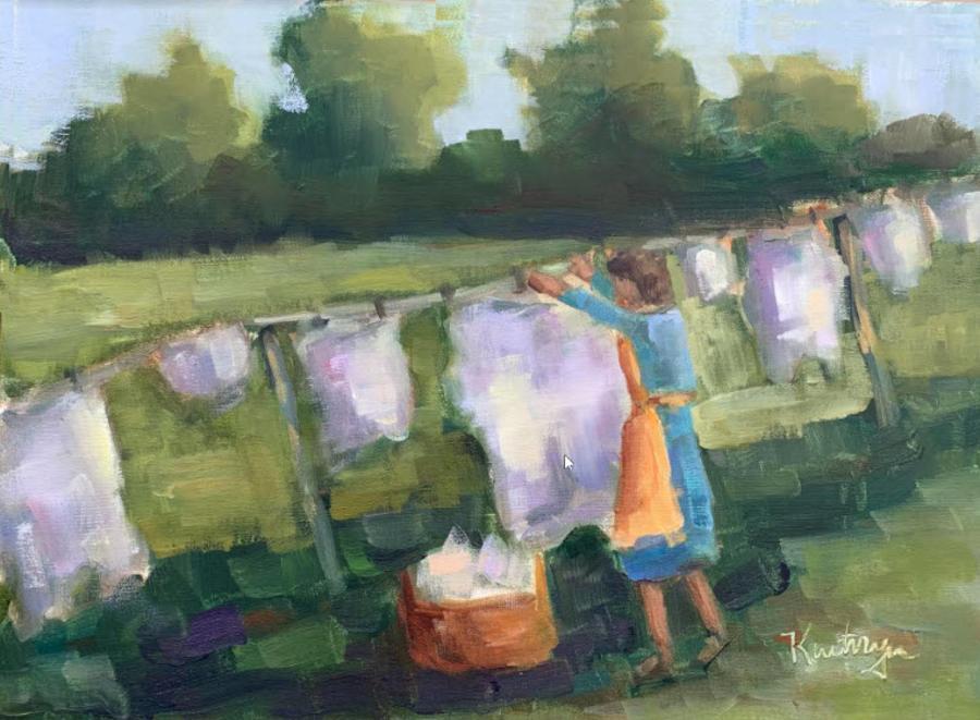 Kathryn Price Wash Woman Rooted Folk Art
