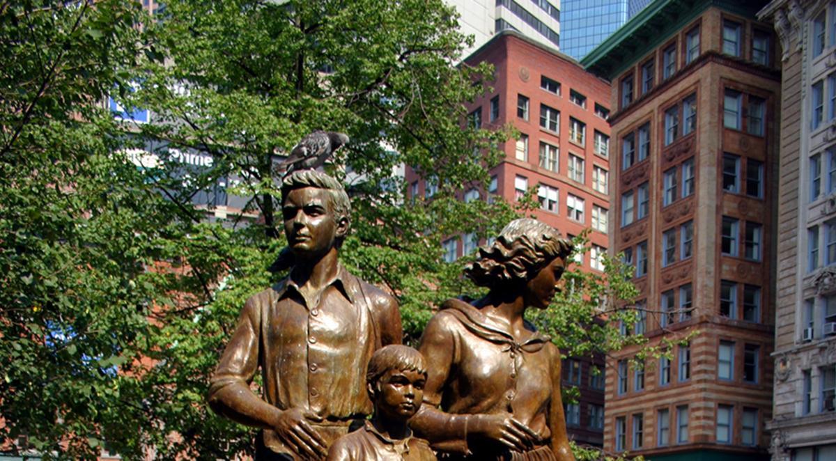 Irish Famine Statue in Boston
