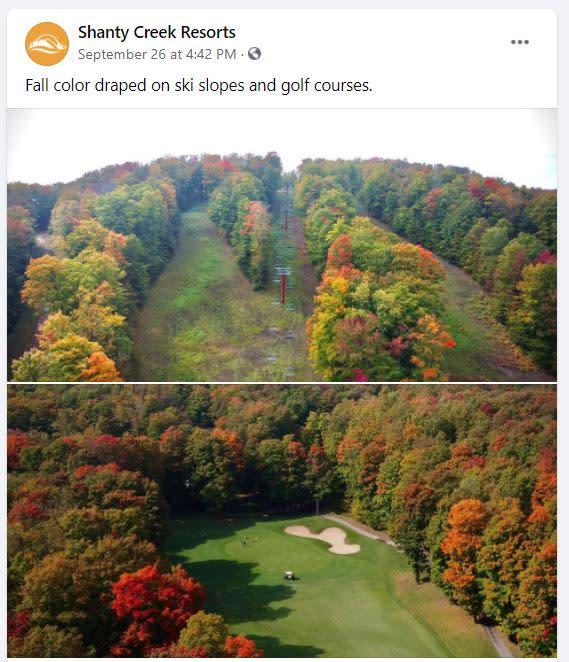 Fall Color at Shanty Creek Resorts