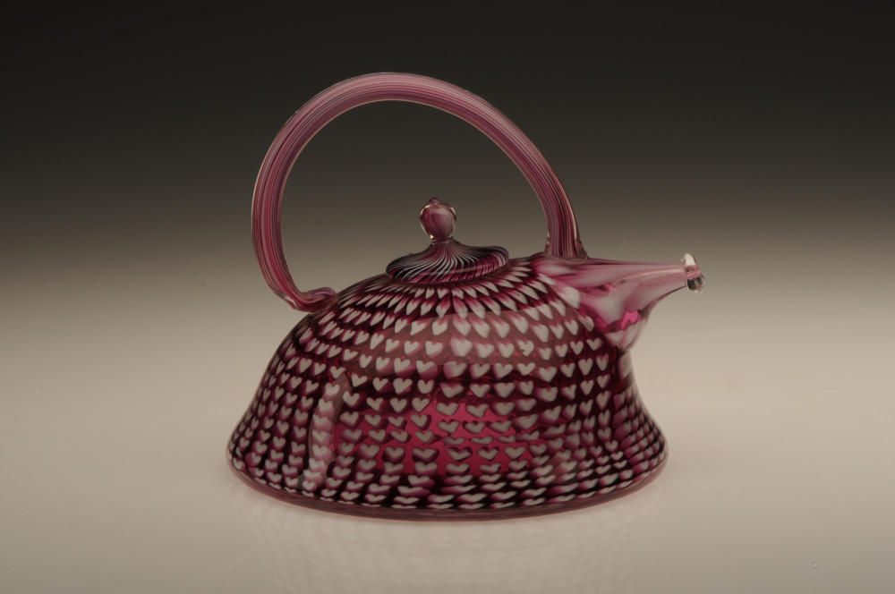 Ruby Heart Teapot by Richard Marquis on Display at Wichita Art Museum