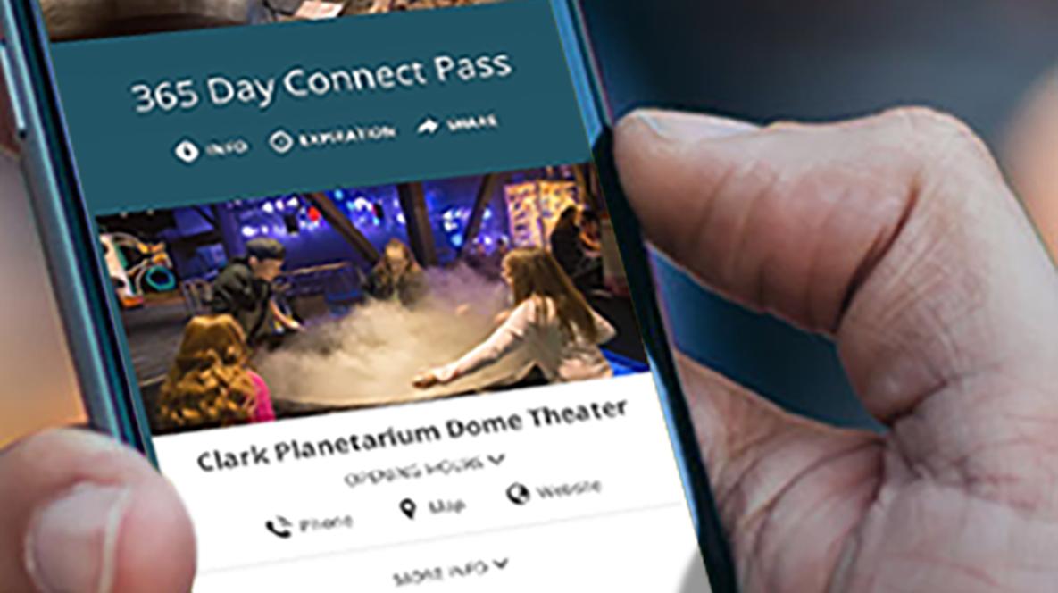 Visit Salt Lake Connect Pass on smartphone