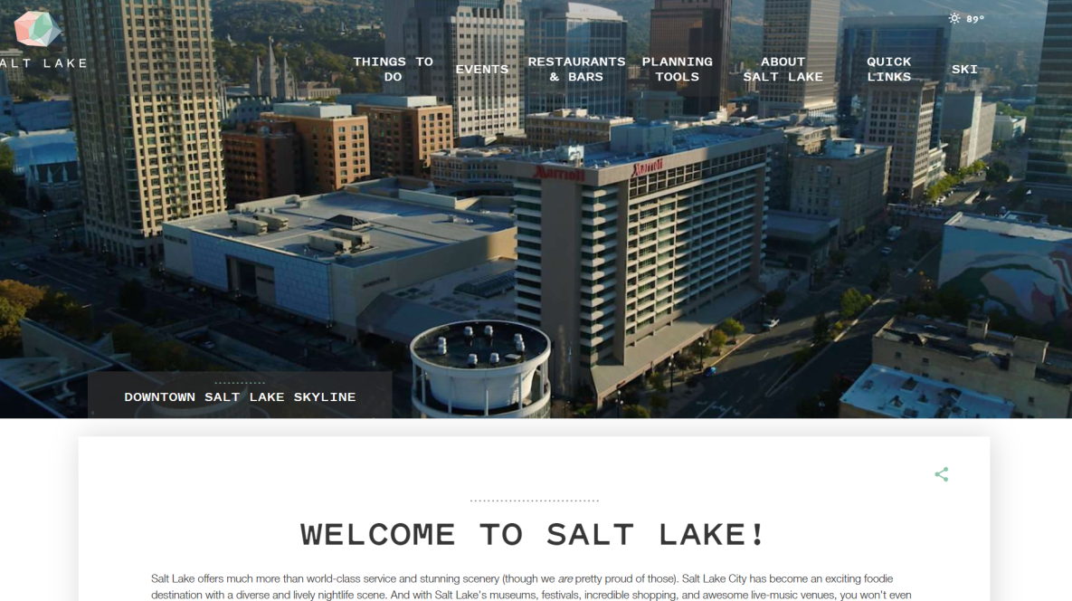 Screenshot of Convention Microsite