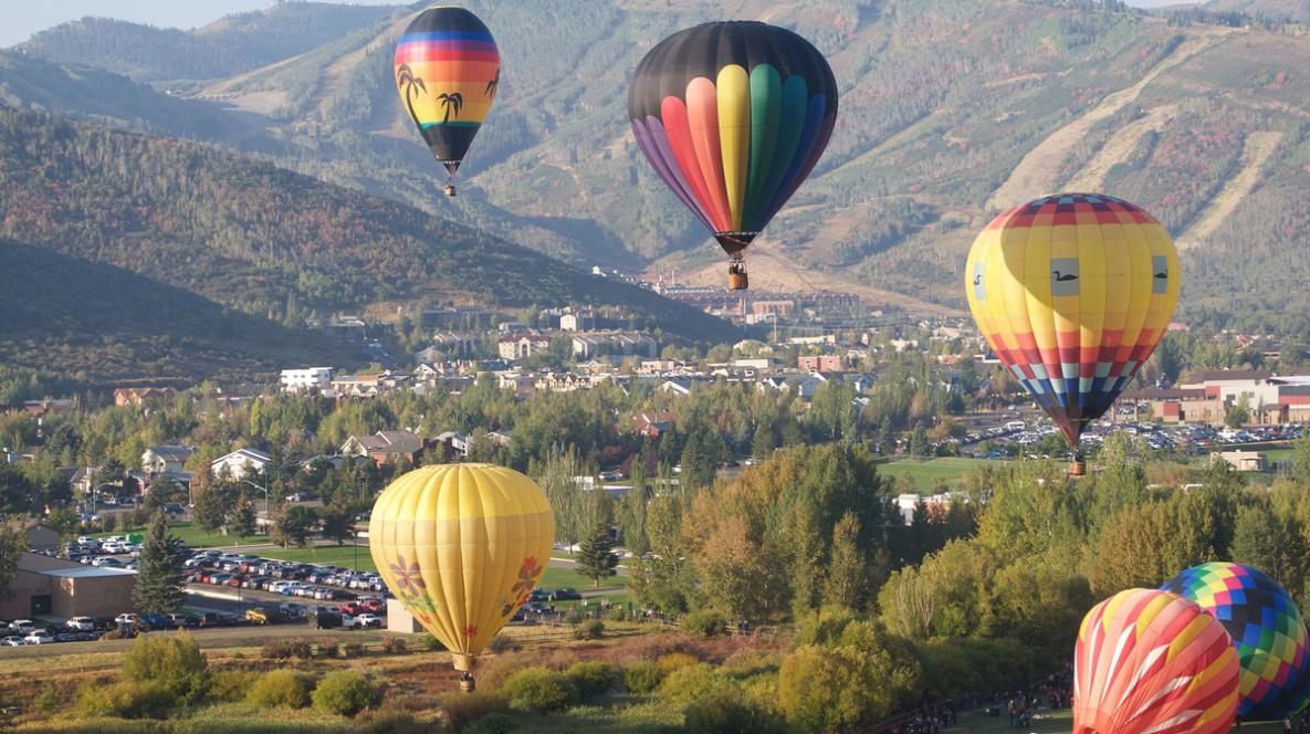 Hot air balloons in Park City