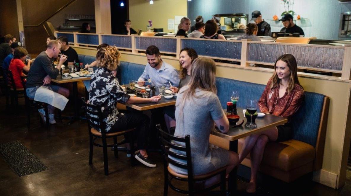 People Dining at Tsunami Restaurant