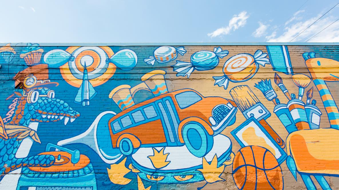 Magic School Bus Mural