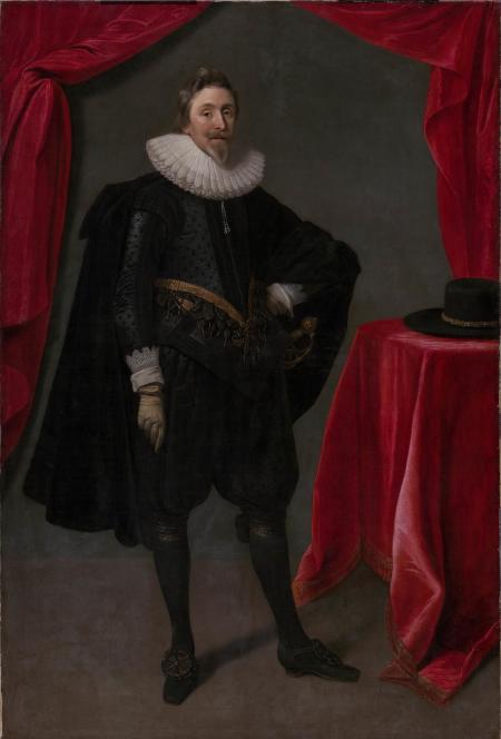 Portrait of George Calvert by Daniel Mytens.