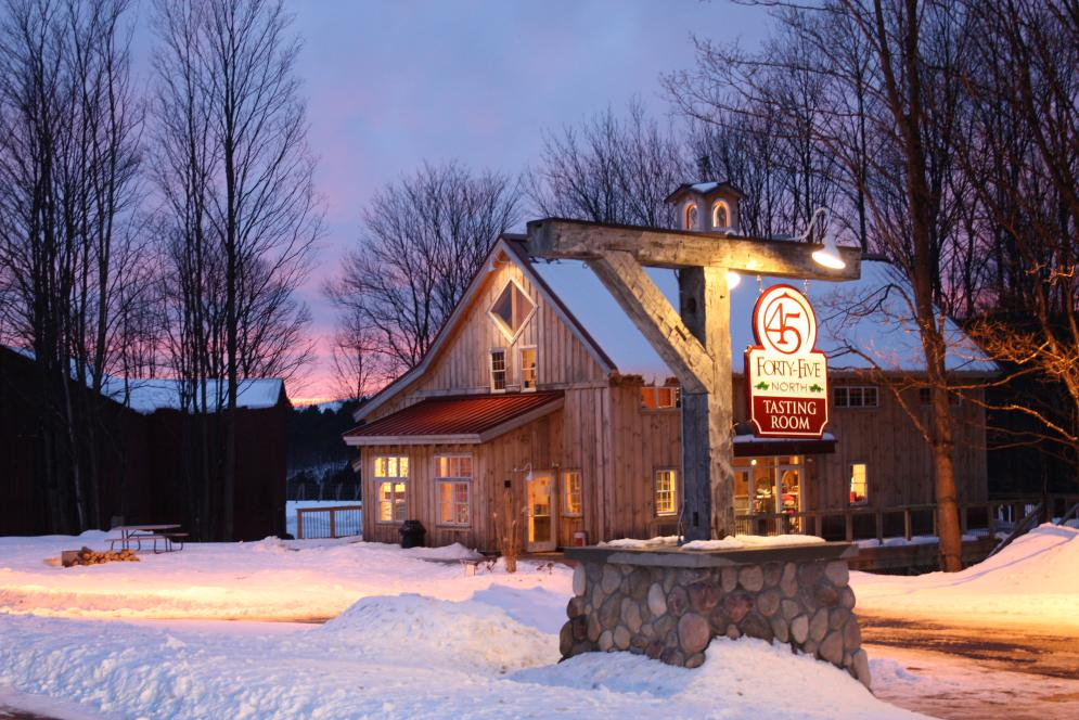 45 North Winery exterior in Winter