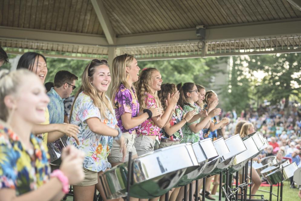 Petoskey Steel Drum Band at Grand Traverse Pavilions