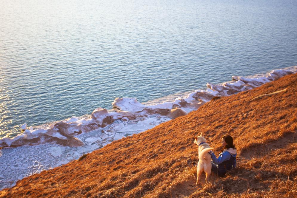Hiking at the Sleeping Bear Dunes