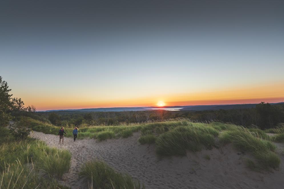 Sunset Hike at Sleeping Bear Dunes