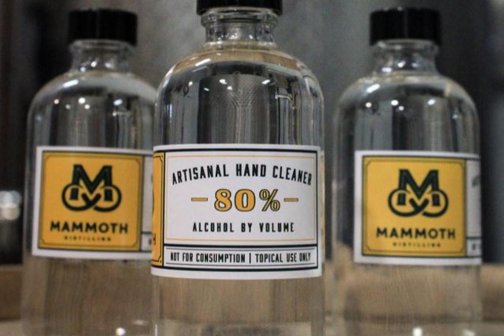 Mammoth Distilling Hand Sanitizer