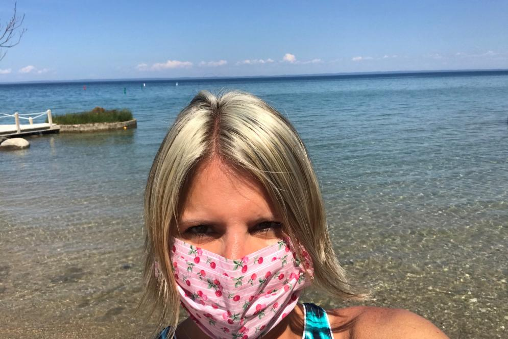 Mask at the Beach