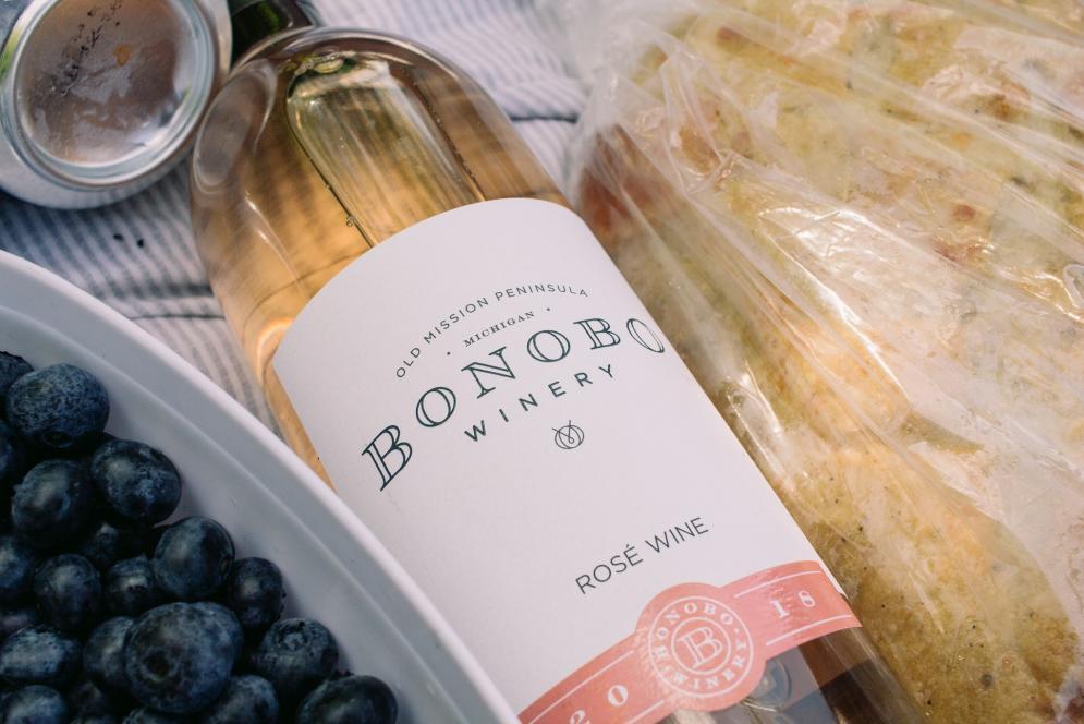 Bonobo Wine & Local Blueberries - Traverse City