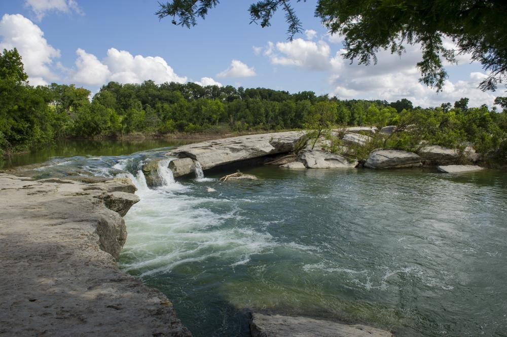 waterfall at McKinney Falls State Park In Austin, TX