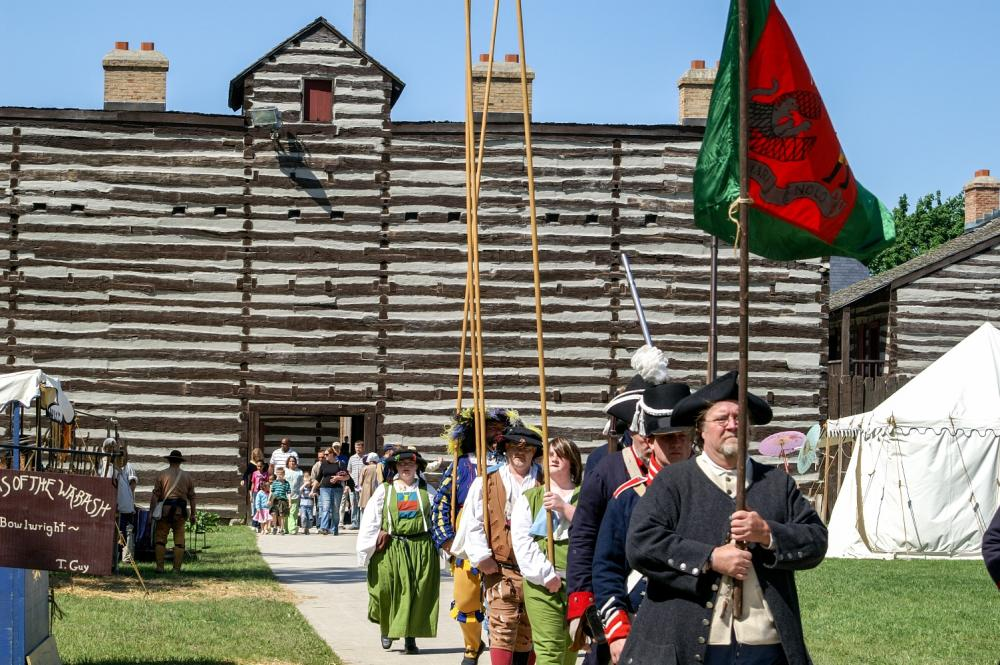 Demonstrations from reenactors during Muster on the St. Marys at the Historic Old Fort