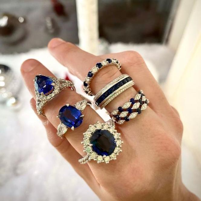Blue Sapphire rings from Cezanne Jewelers in historic downtown Annapolis.