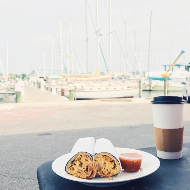 Breakfast burrito with a view!
