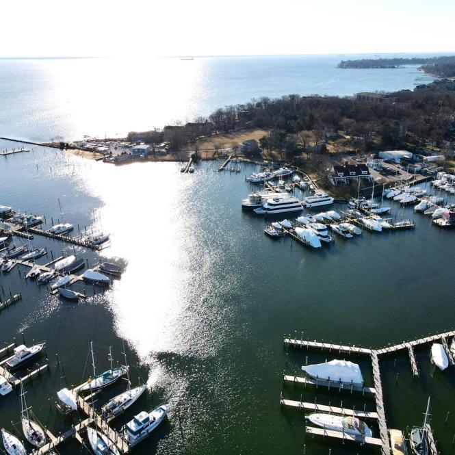Breakwater Adventures aerial marina view